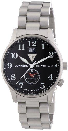 Junkers XL Iron Annie JU52 Analog Quarz Edelstahl 6640M2
