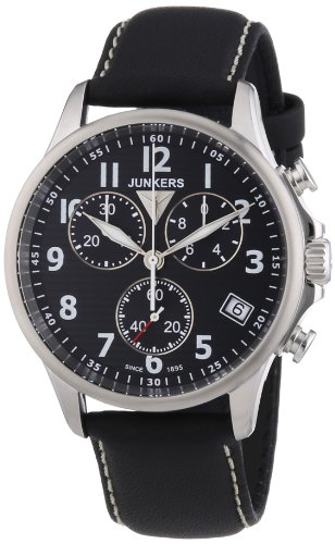 Junkers XL Tante Ju Chronograph Quarz Leder 68902