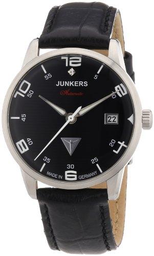 Junkers Damen Armbanduhr Wellblech Flatline Automatik Cal 9015 Analog Automatik Leder 63652