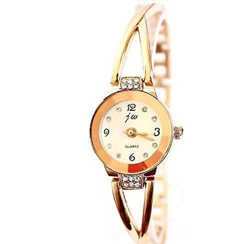 Fashion Nettes Armband Wrist Frauen Uhren Runde Quarz analoge Uhr Rose Gold