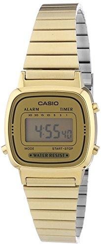 Casio Collection Damen Retro Armbanduhr LA670WEGA 9EF
