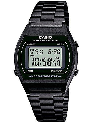 Casio Collection Retro Design Digitale Armbanduhr Schwarz B640WB 1AEF