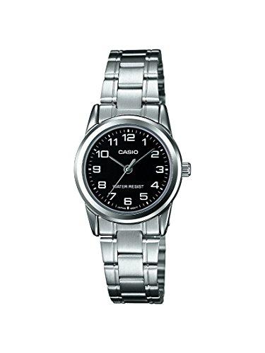 CASIO Damen Armbanduhr Analog Quarz Edelstahl LTP V001D 1