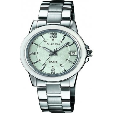 Casio Damen Armbanduhr XS Analog Quarz Edelstahl SHE 4512D 2AUER