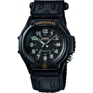 Casio Forester Armbanduhr mit Analog Display schwarz Herren Digitale Armbanduhr mit weissem Zifferblatt Digital Display und schwarz Harz Gurt ft500wc 1BVER