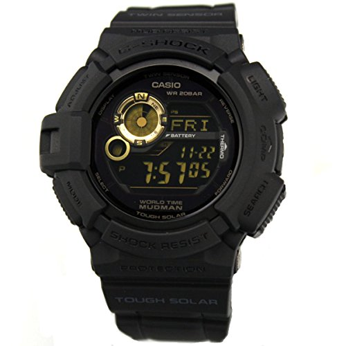 Casio Uhr G Shock G 9300GB 1ER Kompass Weltzeit Moon Phase Mudman