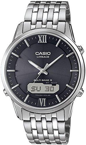 Casio Wave Ceptor Analog Digital Quarz Edelstahl LCW M180D 1AER