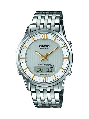 Casio Wave Ceptor Analog Digital Quarz Edelstahl LCW M180D 7AER