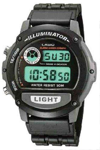 Casio W 87H 1VHEF Herrenarmbanduhr Quarzuhrwerk Multifunktion Bracelet Edelstahlband silber