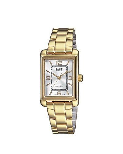 Casio ltp 1234pg 7 a Classic 045J699 Analog weiss Armband Stahl vergoldet Gold