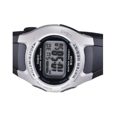 Casio CASIO HERREN QUARZ Digital Armbanduhr mit schwarzem Zifferblatt Digital Display und schwarz Harz Gurt W42H 1 A