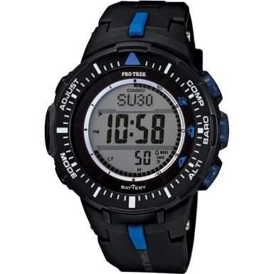 Casio-prg-300-1a2er-pro-trek-Zeigt Herren-Quartz Digital-Zifferblatt LCD-Armband Kunstharz schwarz