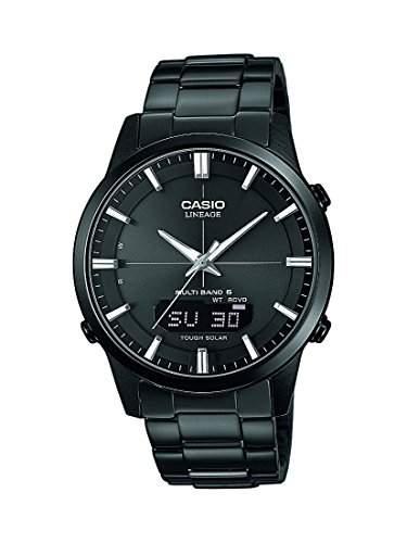 Casio Herren-Armbanduhr XL Wave Ceptor Analog - Digital Quarz Edelstahl LCW-M170DB-1AER