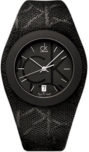 Calvin Klein Primary Logo Analog Textil K4723120 PVD schwarz
