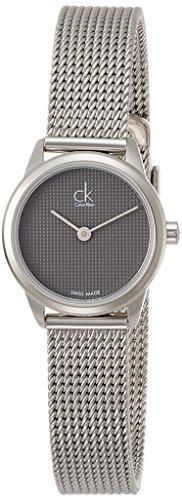 Calvin Klein Minimal Swiss Made Edelstahl silber K3M2312X