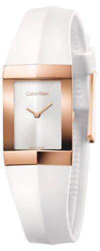 Calvin Klein Shape Edelstahl rosegold Silikon weiss K7C236K6