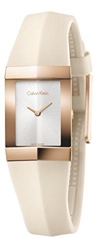 Calvin Klein Shape Edelstahl Rosegold Silikon creme K7C236X6