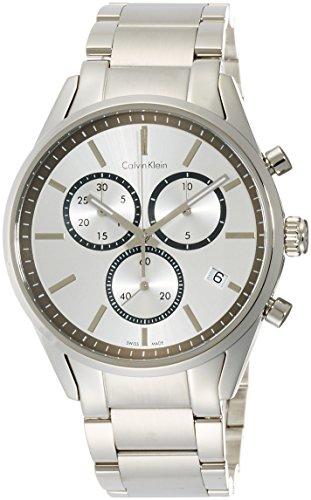 Uhr Calvin Klein Formality k4 m27146 Quarz Batterie Stahl Quandrante Silber Armband Stahl