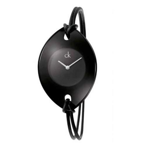Calvin Klein Damen-Armbanduhr XS Suspension Analog Leder K3323330