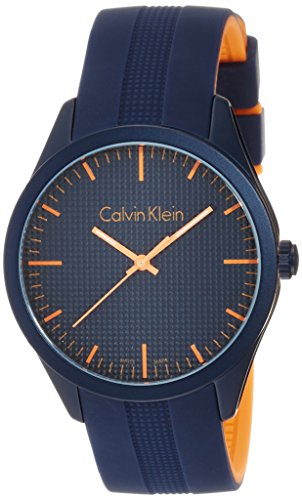 Calvin Klein Unisex Armbanduhr Analog Quarz Kautschuk K5E51GVN