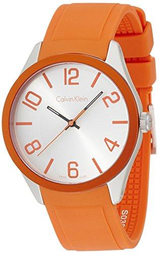 Calvin Klein Unisex Armbanduhr Analog Quarz Kautschuk K5E51YY6