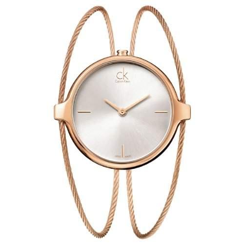 Calvin Klein Damen-Armbanduhr agile Analog Quarz Edelstahl beschichtet K2Z2M616