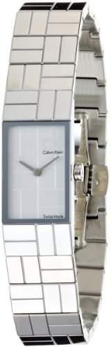 Calvin Klein Damen-Armbanduhr Analog Quarz Edelstahl K0J23120