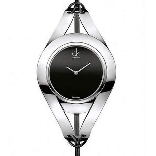 Calvin Klein Damen-Armbanduhr Analog Quarz Leder K1B23102