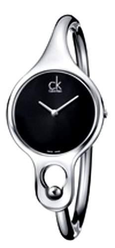 Calvin Klein Damen-Armbanduhr Analog Quarz Edelstahl K1N22102