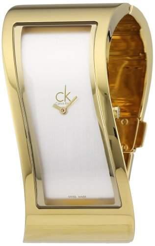 Calvin Klein Damen-Armbanduhr Analog Quarz Edelstahl K1T23501