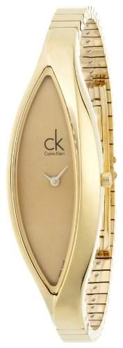 Calvin Klein Damen-Armbanduhr Analog Quarz Edelstahl K2C23509