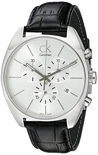 Calvin Klein Herren-Armbanduhr Leder Exchange K2F27120