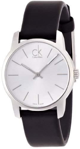 Calvin Klein Damen-Armbanduhr Analog Quarz Leder K2G231C6