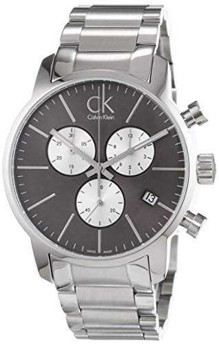 CK Herren-Armbanduhr XL Chronograph Quarz Edelstahl K2G2714X