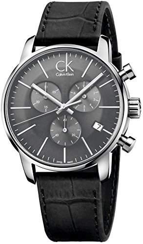 Calvin Klein Herren-Armbanduhr Chronograph Quarz Leder K2G271C3