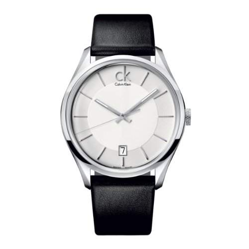 Calvin Klein Herren-Armbanduhr Analog Quarz Leder K2H21120