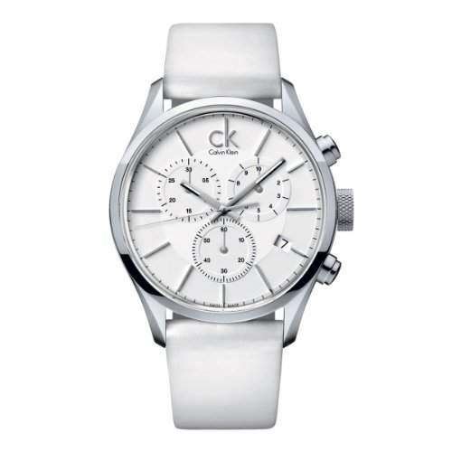 Calvin Klein Herren-Armbanduhr XL Chronograph Leder K2H27101