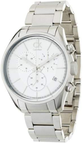 Calvin Klein Herren-Armbanduhr XL Chronograph Edelstahl K2H27126