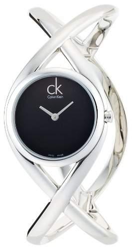 CK Damen-Armbanduhr XS Analog Quarz Edelstahl K2L23102