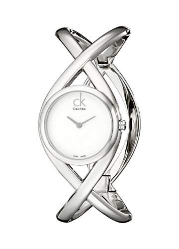 CK Damen-Armbanduhr XS Analog Quarz Edelstahl K2L23120