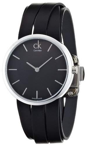 Calvin Klein Damen-Armbanduhr Analog Quarz Leder K2R2M1C1