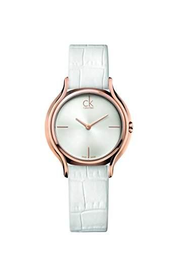 CK Damen-Armbanduhr XS Analog Quarz Leder K2U236K6