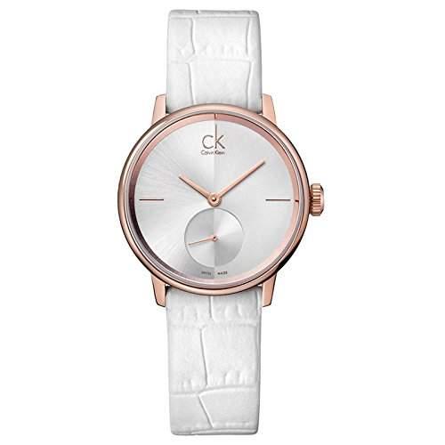 Calvin Klein Damen-Armbanduhr Analog Quarz Leder K2Y216K6