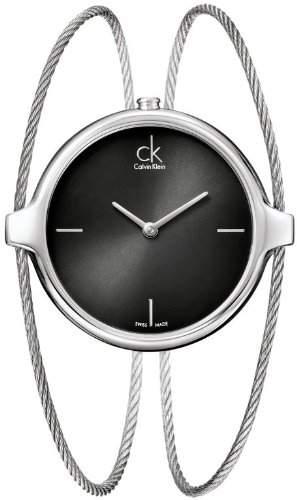 Calvin Klein Damen-Armbanduhr Analog Quarz Edelstahl K2Z2M111