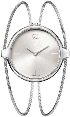 Calvin Klein Damen-Armbanduhr Analog Quarz Edelstahl K2Z2M116