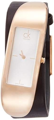 Calvin Klein Damen-Armbanduhr Analog Quarz Leder K3C236G6