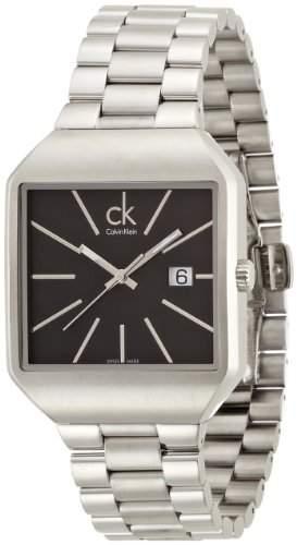 Calvin Klein Herren-Armbanduhr Analog Quarz Edelstahl K3L31161