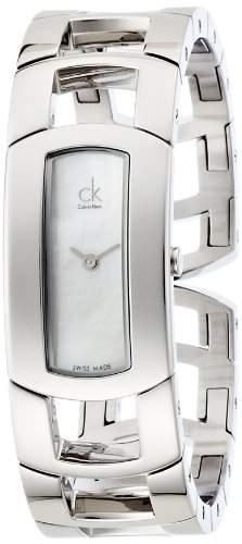 Calvin Klein Damen-Armbanduhr Analog Quarz Edelstahl K3Y2M11G