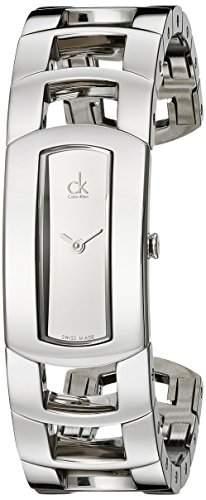 Calvin Klein Damen-Armbanduhr Analog Quarz Edelstahl K3Y2S118