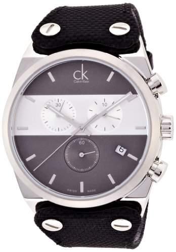 Calvin Klein Herren-Armbanduhr Chronograph Quarz Kautschuk K4B371B3